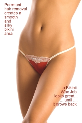 A Bikini Wax Job can look great... until... it grows back.